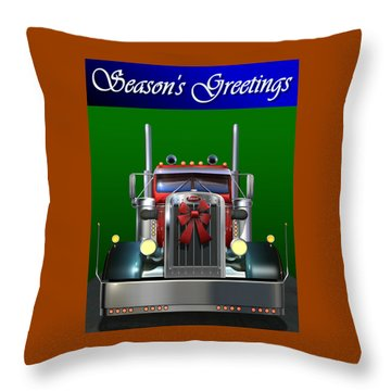 Throw Pillow featuring the digital art Pete Season's Greetings by Stuart Swartz
