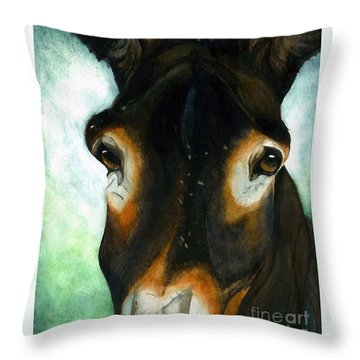 Pete The Mule Throw Pillow