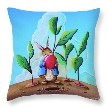 Peter Among The Radishes Throw Pillow