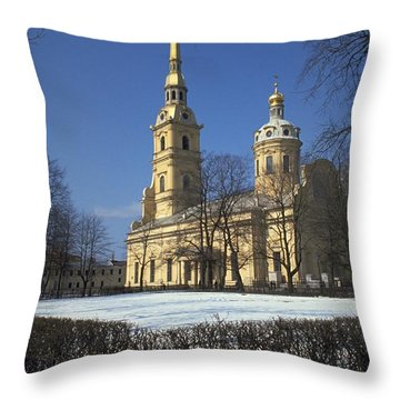 Peter And Paul Cathedral Throw Pillow