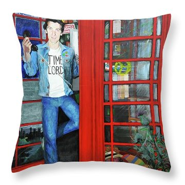 Peter Capaldi Dr Who Putting You Through Throw Pillow