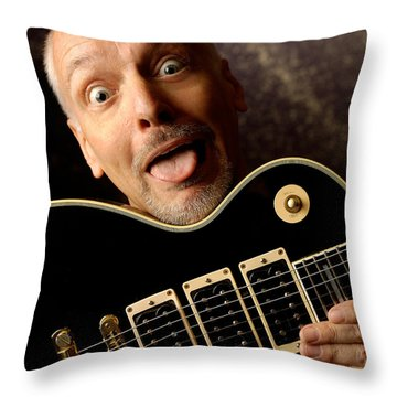 Peter Frampton By Gene Martin Throw Pillow