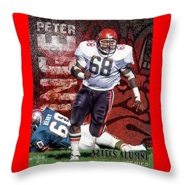 Throw Pillow featuring the photograph Peter Inge by Don Olea