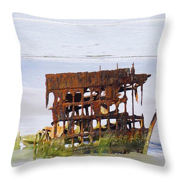 Peter Iredale Throw Pillow by Angi Parks