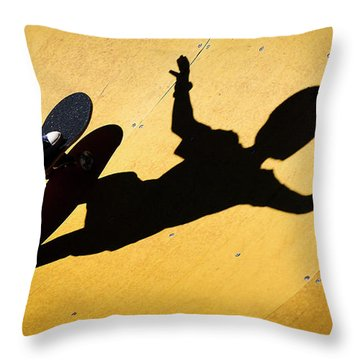 Peter Pan Skate Boarding Throw Pillow