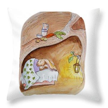 Peter Rabbit  Throw Pillow by Irina Sztukowski