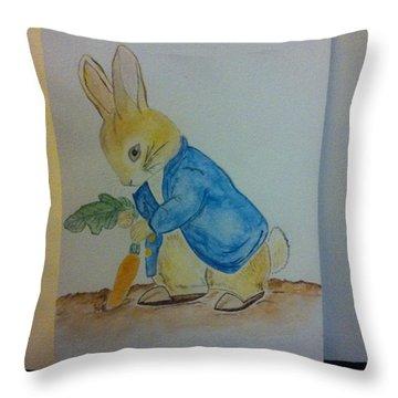 Peter Rabbit Throw Pillow