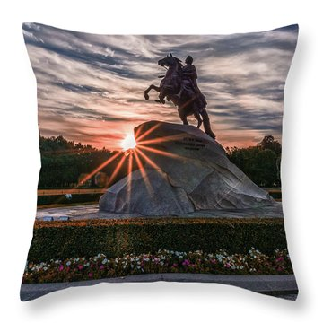 Peter Rides At Dawn Throw Pillow