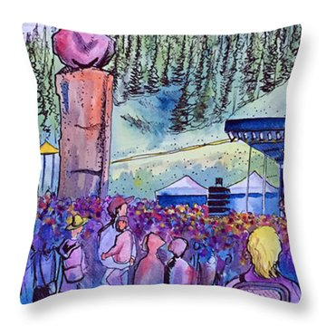 Peter Rowen At Copper Mountain Throw Pillow by David Sockrider