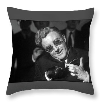 Peter Sellers As Dr. Strangelove Number One Color Added 2016 Throw Pillow
