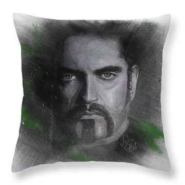 Throw Pillow featuring the drawing Peter Steele, Type O Negative by Julia Art
