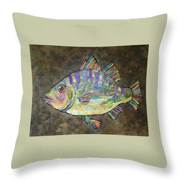Peter The Perch Throw Pillow