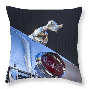 Peterbilt Angry Duck Throw Pillow