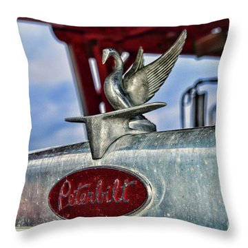 Peterbilt Truck Grill Throw Pillow