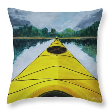 Petersburg Creek Throw Pillow
