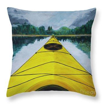 Petersburg Creek Throw Pillow by Cynthia Lagoudakis