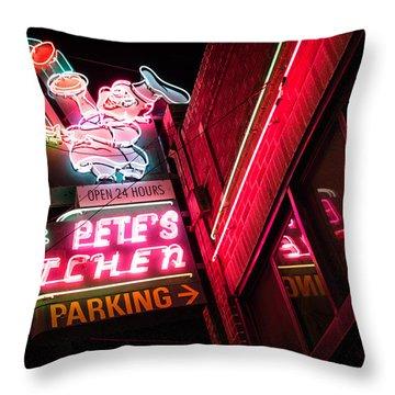 Pete's On Colfax Throw Pillow