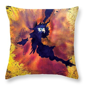 Throw Pillow featuring the painting Pete's Speed Of Light by Albert Puskaric
