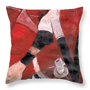 Petit Cafe Parisien Throw Pillow