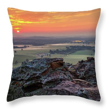 Petit Jean Sunrise Throw Pillow