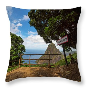 Petit Piton From The Tet Paul Nature Trail Saint Lucia Throw Pillow