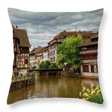 Petite France, Strasbourg Throw Pillow by Elenarts - Elena Duvernay photo