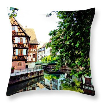 Petite France - Strassbourg, France Throw Pillow