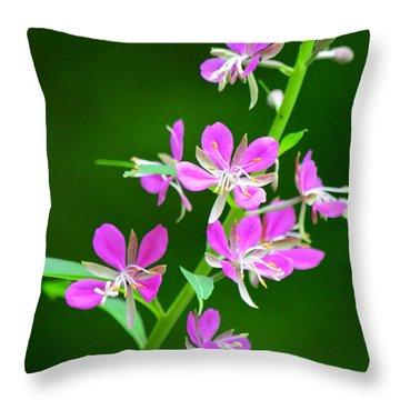 Petites Fleurs Violettes Throw Pillow