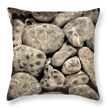 Petoskey Stones Vl Throw Pillow