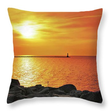 Petoskey Sunset Throw Pillow