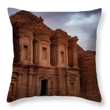 Petra's Monastery Throw Pillow