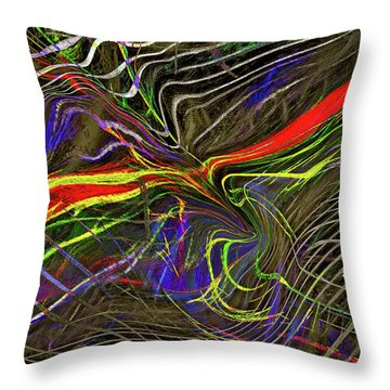 Flight Of Petrel Throw Pillow