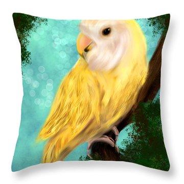 Petrie The Lovebird Throw Pillow