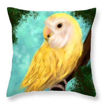 Petrie The Lovebird Throw Pillow