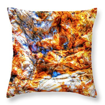 Throw Pillow featuring the photograph Petrified Abstraction No 3 by Andreas Thust