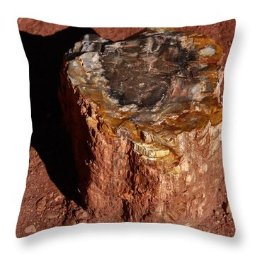 Petrified Forest Throw Pillow