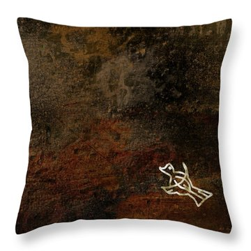 Petroglyph 5 Throw Pillow