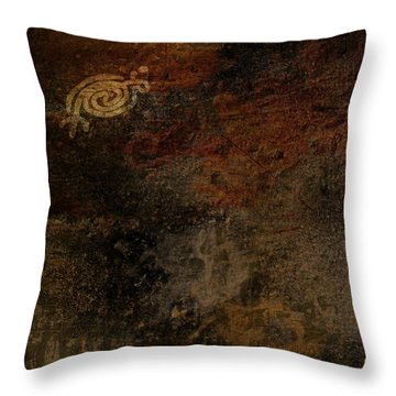 Petroglyph 6 Throw Pillow
