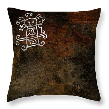 Petroglyph 8 Throw Pillow