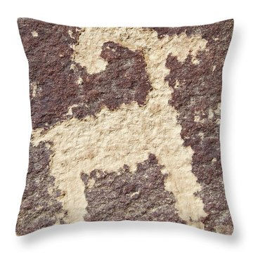 Throw Pillow featuring the photograph Petroglyph - Fremont Indian by Breck Bartholomew
