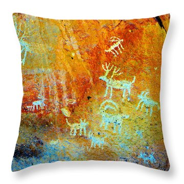 Petroglyph Panel Work 12 Throw Pillow