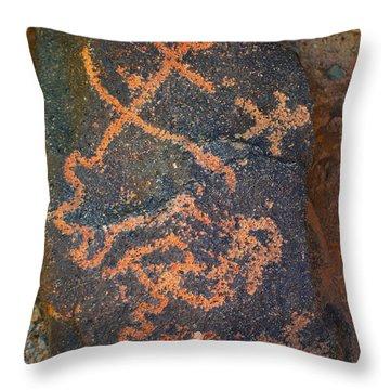 Petroglyph Tucson Arizona Throw Pillow by Donna Greene