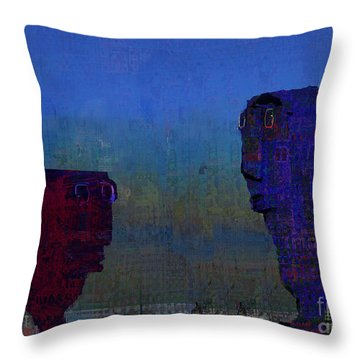 Petrol Heads Throw Pillow by Andy  Mercer
