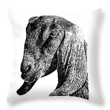 Petunia Throw Pillow by Kean Butterfield