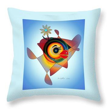 Petunia Parrot 2 Throw Pillow