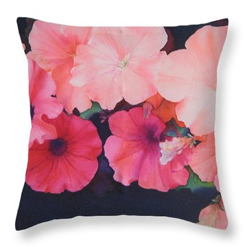 Petunias Throw Pillow