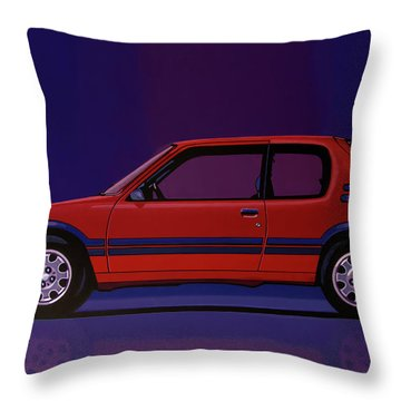 Peugeot 205 Gti 1984 Painting Throw Pillow