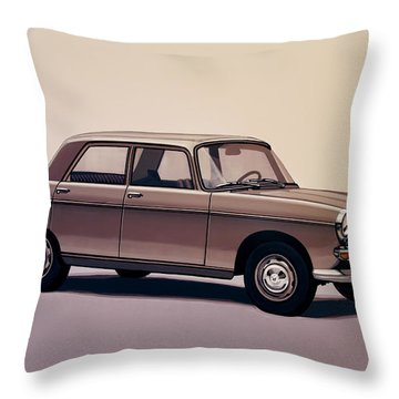 Peugeot 404 1960 Painting Throw Pillow
