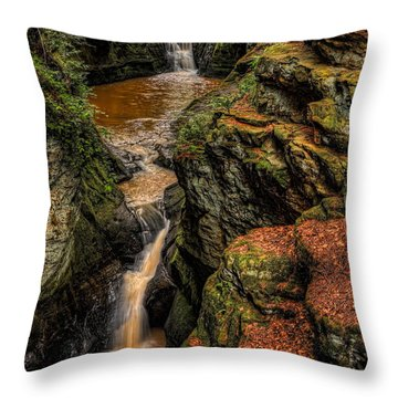 Pewits Nest Three Waterfalls Throw Pillow