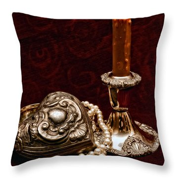 Pewter And Pearls Throw Pillow by Christopher Holmes